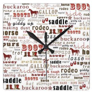 Reloj de pared rojo del arte occidental de la