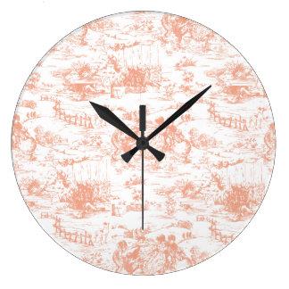 Relojes de pared papel pintado del vintage - Reloj pintado en la pared ...