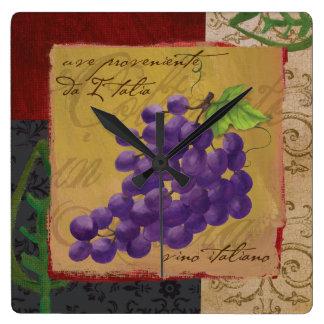 Reloj de pared toscano de las uvas