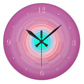 Reloj Redondo Grande Reloj de pared verde de Centre> de la aguamarina
