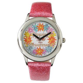 Reloj de Phoenix de la guirnalda de la flor de la