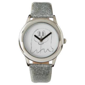 Reloj de plata del acero inoxidable del 鬼鬼