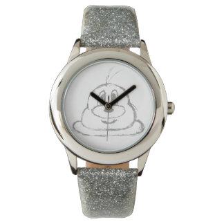 Reloj de plata del acero inoxidable del 鲍鲍