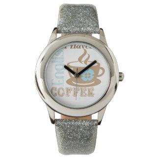 Reloj de plata retro del brillo con la hora para
