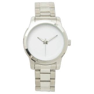 Reloj de plata unisex de gran tamaño