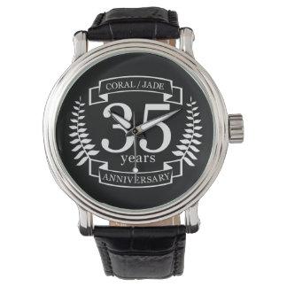 Reloj De Pulsera 35to JADE/CORAL del ANIVERSARIO de boda
