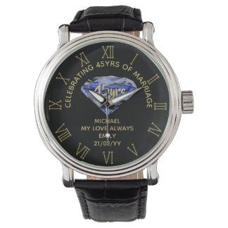 Reloj De Pulsera 45.o Marido del aniversario de boda - 2