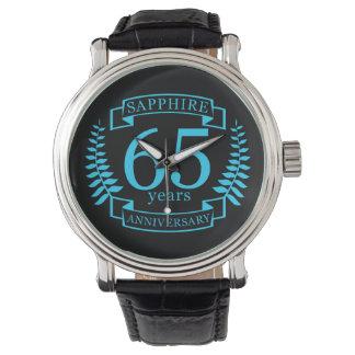 Reloj De Pulsera 65.o ZAFIRO del ANIVERSARIO de boda