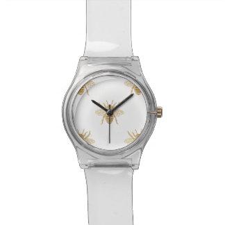 Reloj De Pulsera Abejas metálicas del Foto-Efecto del efecto