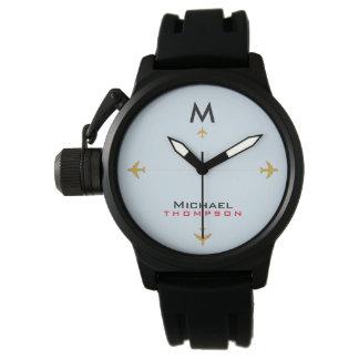 Reloj De Pulsera aeroplanos con el estilo conocido y inicial, aero-