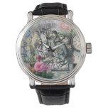 Reloj De Pulsera Alicia en collage del bonito del vintage del Dodo