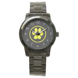 Reloj De Pulsera Amante del perro del diseño de la pata del perro