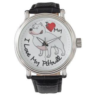 Reloj De Pulsera Amo mi perro de Pitbull
