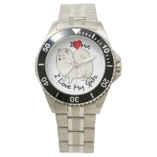 Reloj De Pulsera Amo mi perro del perro de Pomerania