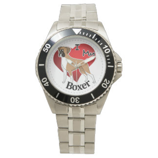 Reloj De Pulsera Amo mi perro divertido y lindo adorable feliz del
