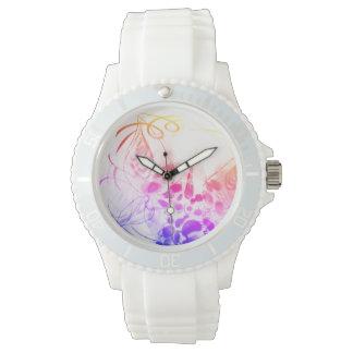 Reloj De Pulsera Amor RubyK del gatito de la mariposa del unicornio