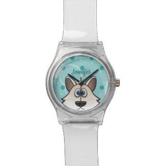 Reloj De Pulsera Arctic genial White perro raposero Custom nombre