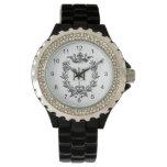 Reloj De Pulsera Arte de la corona y de la guirnalda del vintage