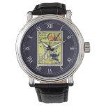 Reloj De Pulsera Arte de la cubierta de libro de mago de Oz del