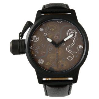 Reloj De Pulsera Arte temático aborigen australiano del desierto
