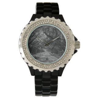 Reloj De Pulsera Avenida del Grayscale de los robles