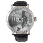 Reloj De Pulsera Ballena de esperma del vintage que viola, animales