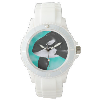 Reloj De Pulsera Ballena linda de la orca