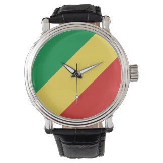 Reloj De Pulsera Bandera de Congo-Brazzaville