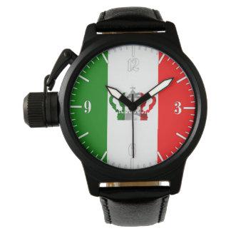 Reloj De Pulsera Bandera de Italo del italiano de Italia de la