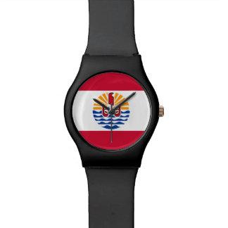 Reloj De Pulsera Bandera de Polinesia francesa