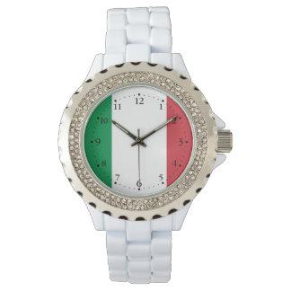 Reloj De Pulsera Bandera italiana patriótica