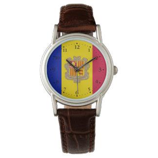 Reloj De Pulsera Bandera patriótica de Andorra