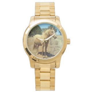 Reloj De Pulsera Belleza del caballo del Palomino,