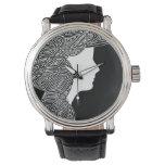 Reloj De Pulsera Blanco y negro