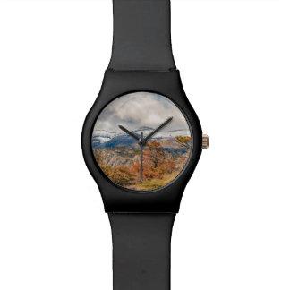 Reloj De Pulsera Bosque y montañas Nevado, Patagonia, la Argentina