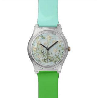 Reloj De Pulsera Botánico azul