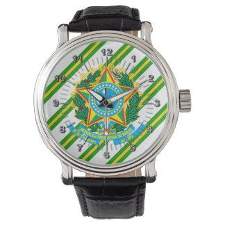 Reloj De Pulsera Brazos de la capa del Brasil