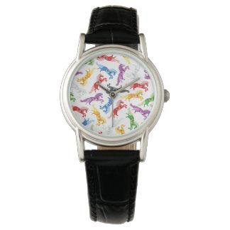 Reloj De Pulsera Caballos de salto coloreados del modelo