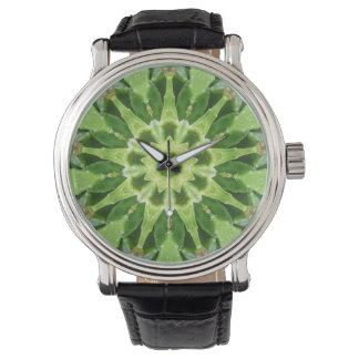 Reloj De Pulsera Capas de hojas suculentas