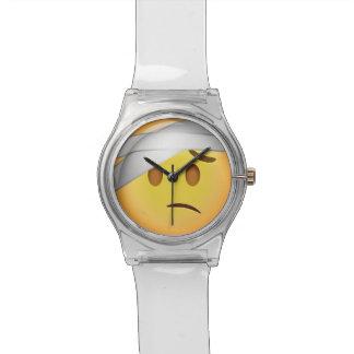 Reloj De Pulsera Cara con el Cabeza-Vendaje Emoji