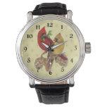 Reloj De Pulsera Cardinales de invierno Pine y Holly