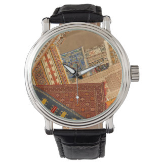 Reloj De Pulsera Cierre del collage de la alfombra para arriba