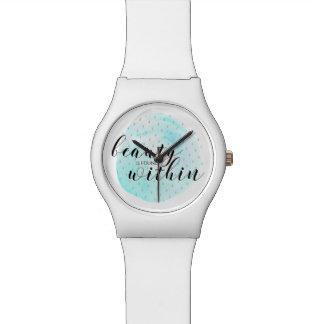 Reloj De Pulsera Cita de la belleza de la acuarela