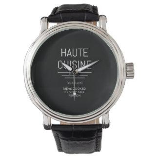 Reloj De Pulsera Cocinero francés divertido de la cocina de Haute
