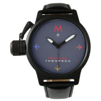 Reloj De Pulsera coloree los aeroplanos con el estilo conocido y
