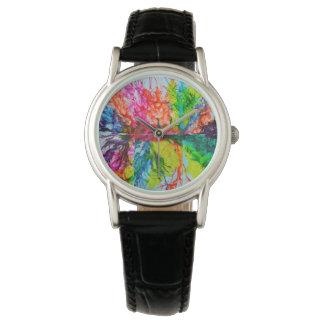 Reloj De Pulsera Colores manchados de tinta brillantes