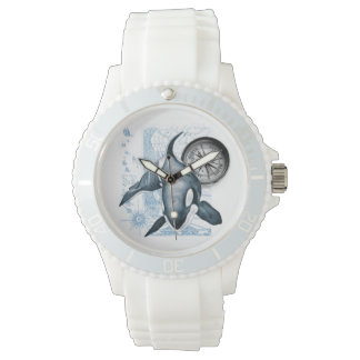 Reloj De Pulsera Compás de la ballena de la orca