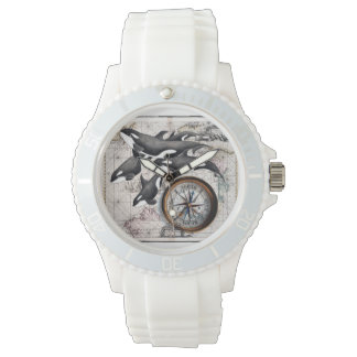 Reloj De Pulsera Compás náutico de la orca