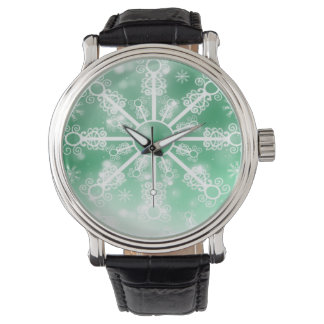 Reloj De Pulsera Copo de nieve verde