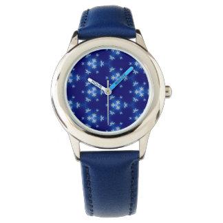 Reloj De Pulsera Copos de nieve en azul